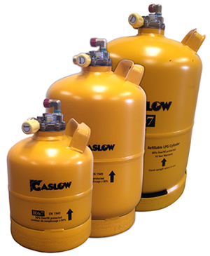 Gaslow refillable steel leisure gas cylinders